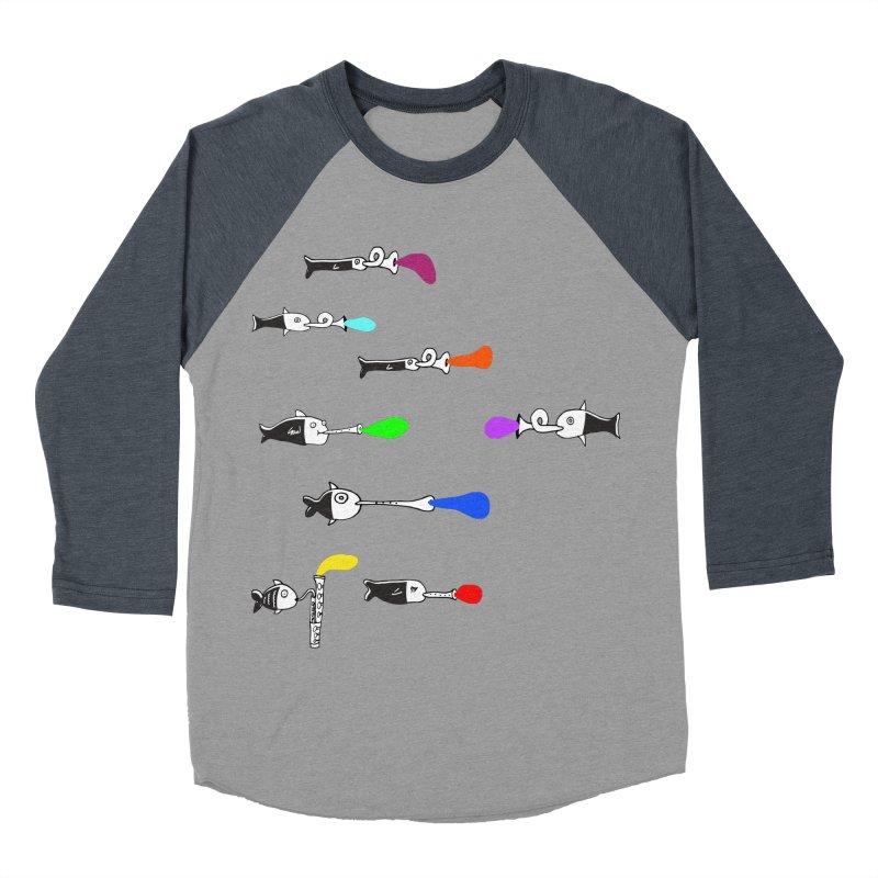 Water Music Men's Baseball Triblend T-Shirt by julianepieper's Artist Shop