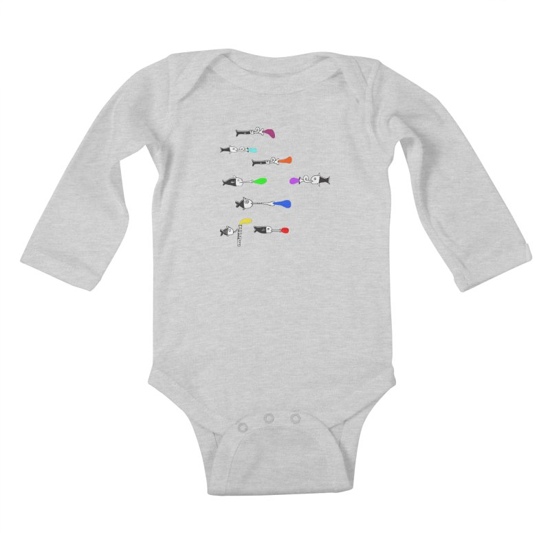 Water Music Kids Baby Longsleeve Bodysuit by julianepieper's Artist Shop