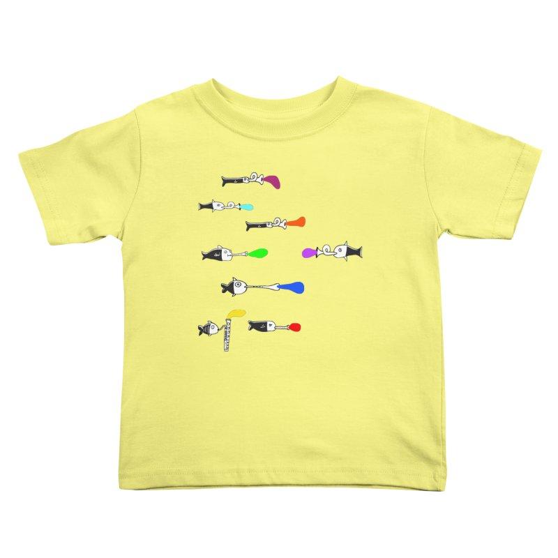 Water Music Kids Toddler T-Shirt by julianepieper's Artist Shop