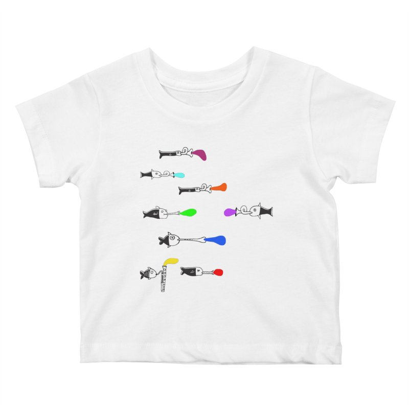Water Music Kids Baby T-Shirt by julianepieper's Artist Shop