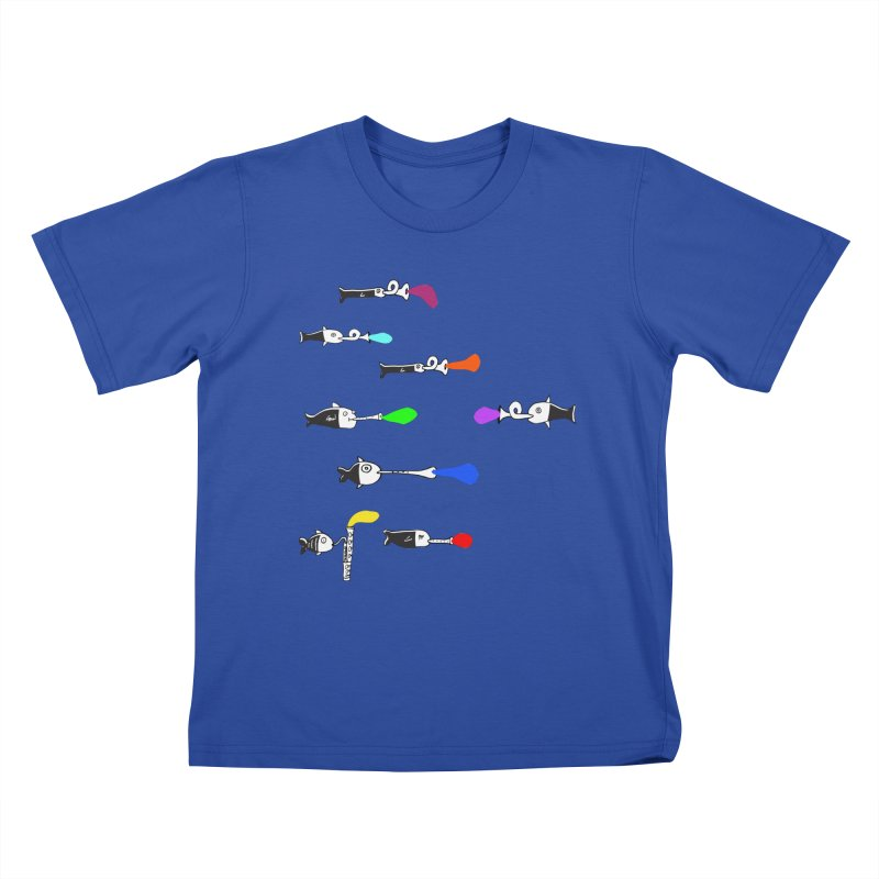 Water Music Kids T-Shirt by julianepieper's Artist Shop