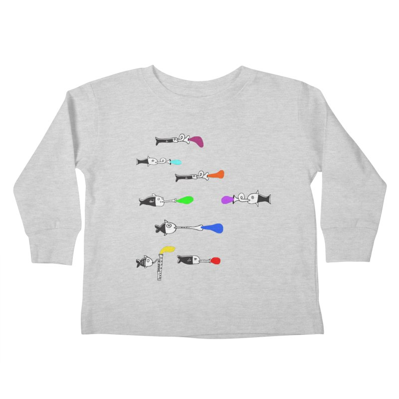 Water Music Kids Toddler Longsleeve T-Shirt by julianepieper's Artist Shop