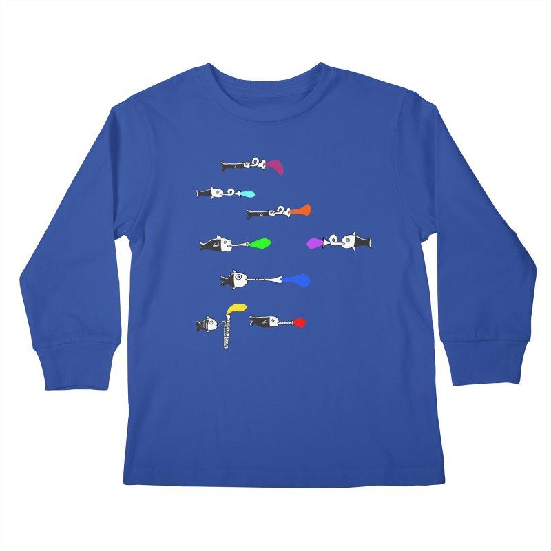 Water Music Kids Longsleeve T-Shirt by julianepieper's Artist Shop