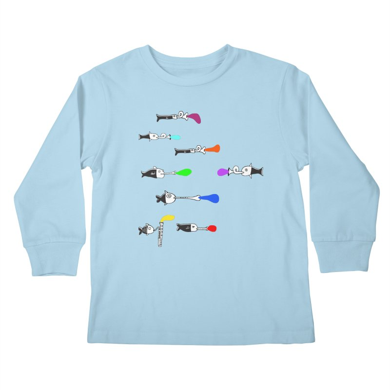 Water Music Kids Longsleeve T-Shirt by julianepieper's Artist Shop