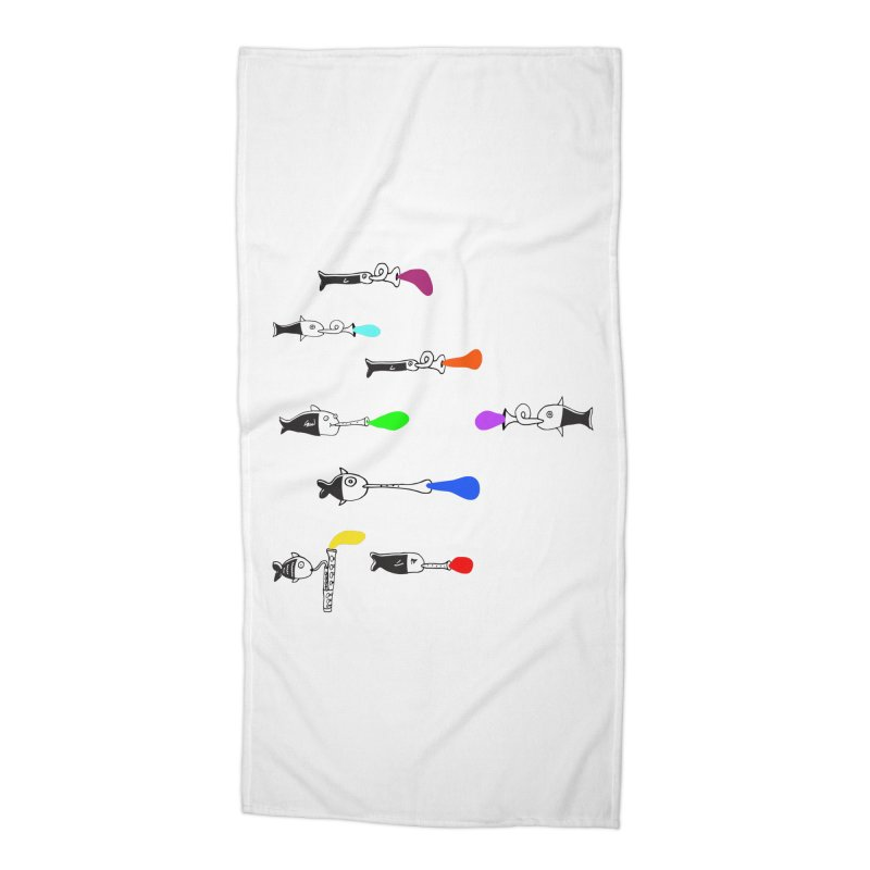 Water Music Accessories Beach Towel by julianepieper's Artist Shop