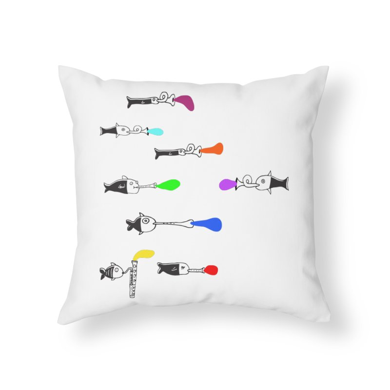 Water Music Home Throw Pillow by julianepieper's Artist Shop