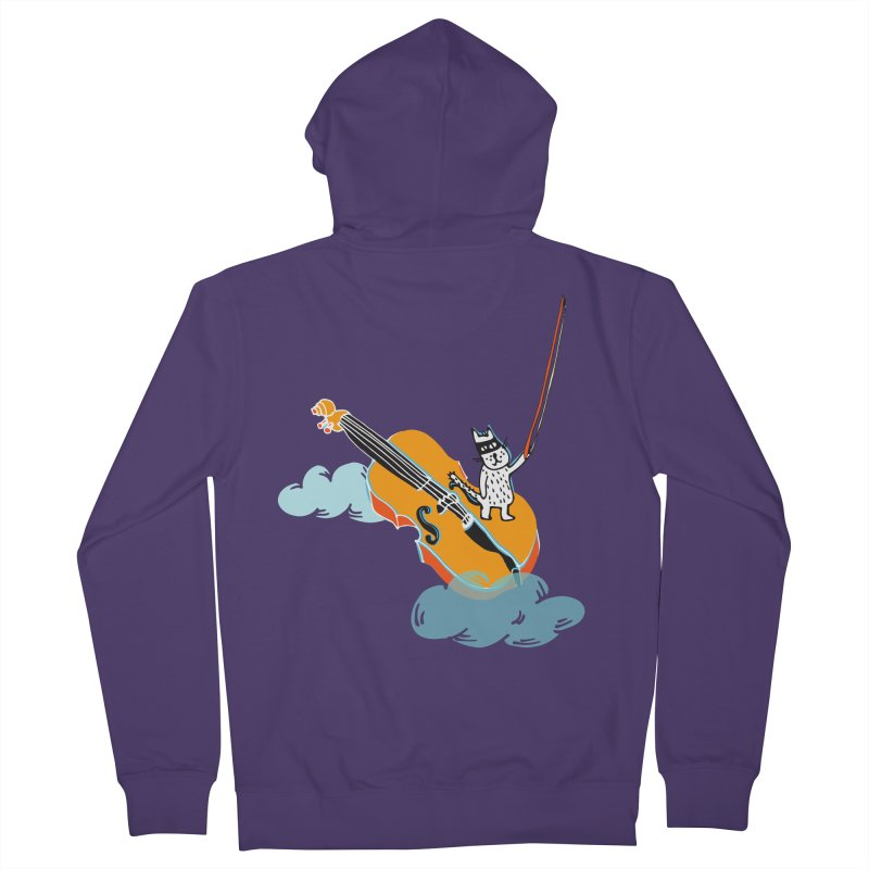 Violin Cat Women's Zip-Up Hoody by julianepieper's Artist Shop