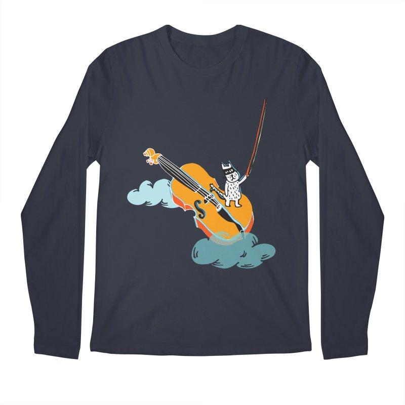 Violin Cat Men's Longsleeve T-Shirt by julianepieper's Artist Shop