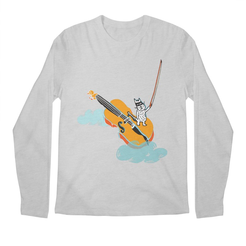 Violin Cat Men's Longsleeve T-Shirt by julianepieper's Artist Shop