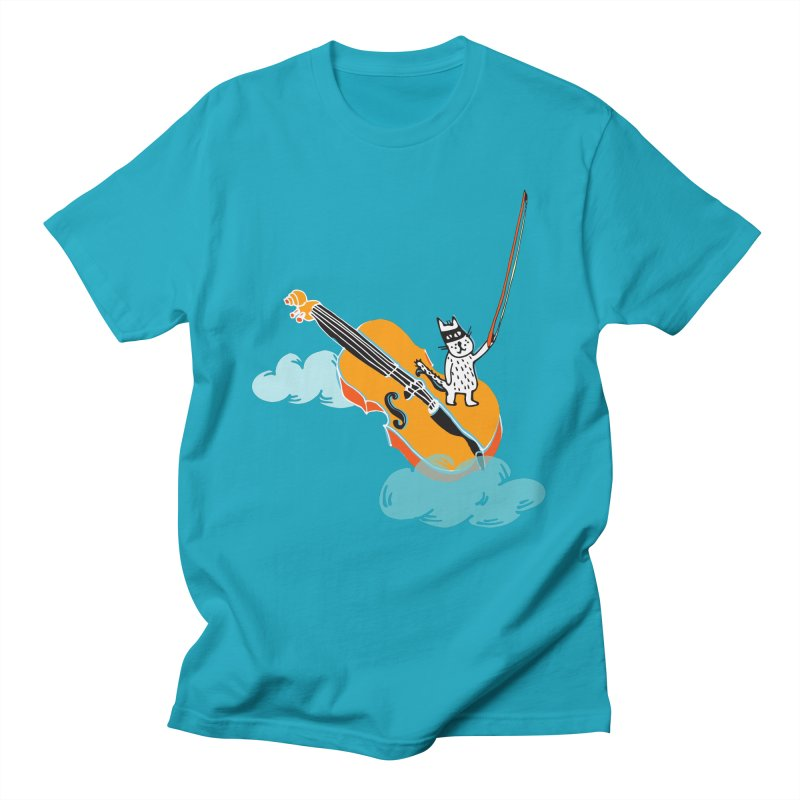 Violin Cat Men's T-Shirt by julianepieper's Artist Shop
