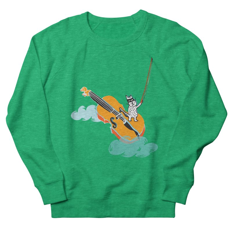 Violin Cat Women's Sweatshirt by julianepieper's Artist Shop