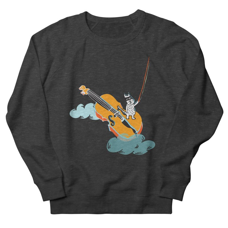 Violin Cat Men's Sweatshirt by julianepieper's Artist Shop