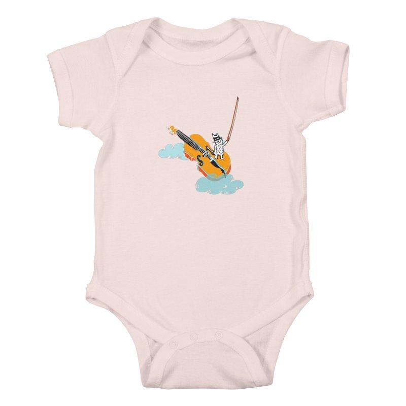 Violin Cat Kids Baby Bodysuit by julianepieper's Artist Shop