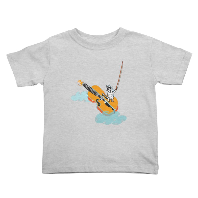 Violin Cat Kids Toddler T-Shirt by julianepieper's Artist Shop
