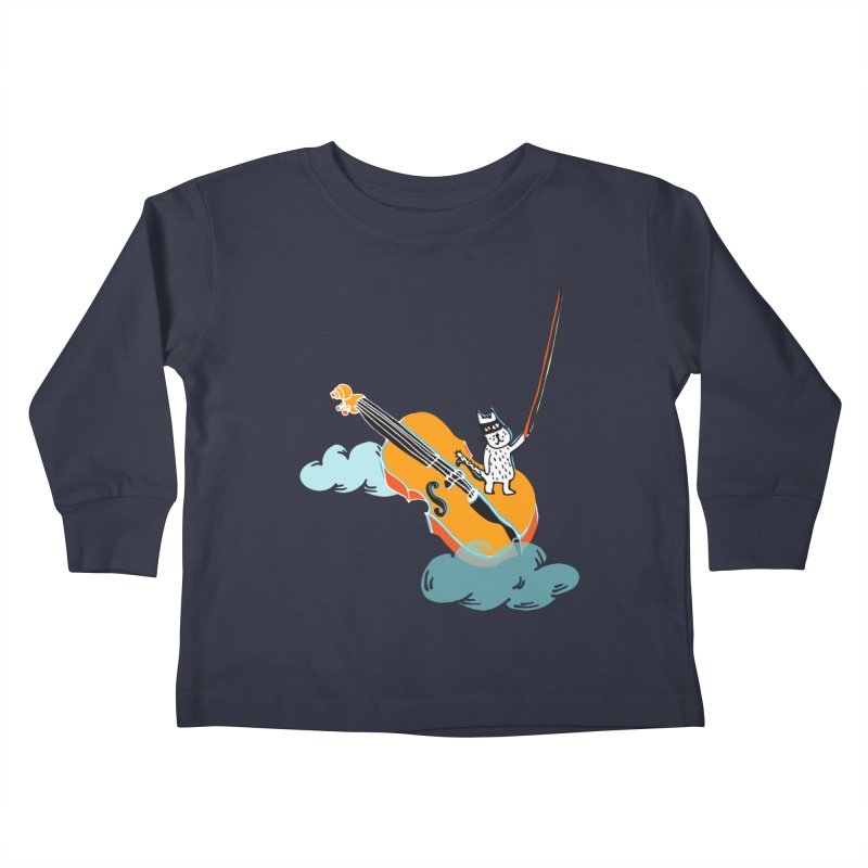 Violin Cat Kids Toddler Longsleeve T-Shirt by julianepieper's Artist Shop