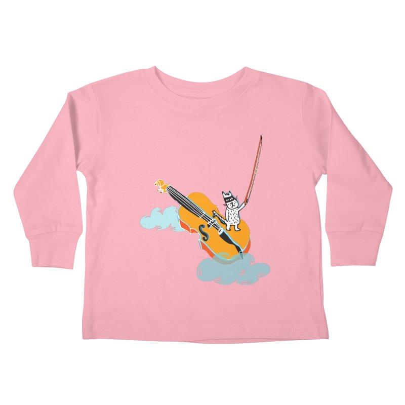 Violin Cat Kids Toddler Longsleeve T-Shirt by julianepieper's Artist Shop