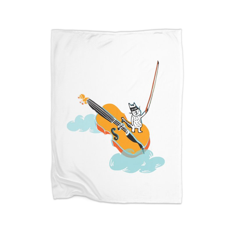 Violin Cat Home Blanket by julianepieper's Artist Shop