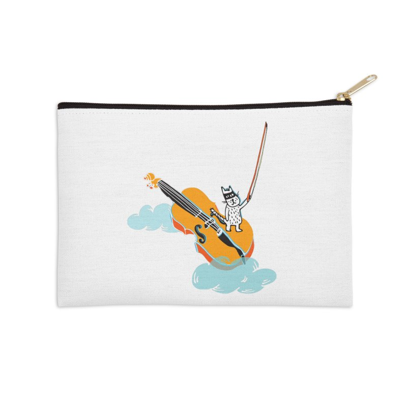 Violin Cat Accessories Zip Pouch by julianepieper's Artist Shop
