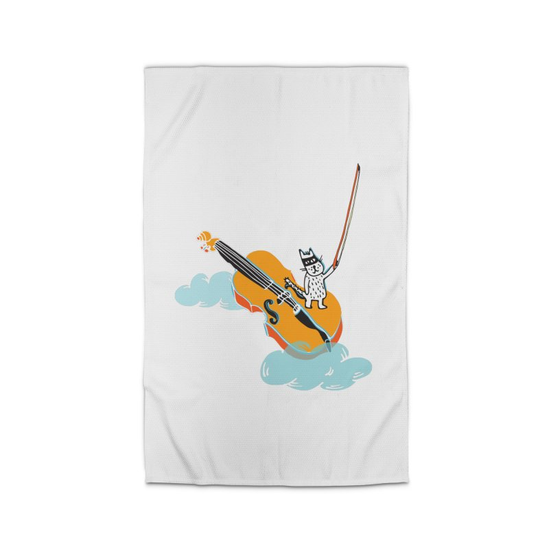Violin Cat Home Rug by julianepieper's Artist Shop