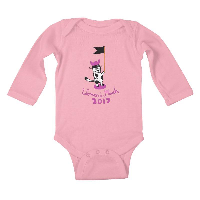Women's March 2017 Kids Baby Longsleeve Bodysuit by julianepieper's Artist Shop
