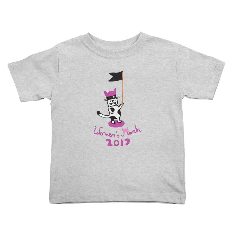 Women's March 2017 Kids Toddler T-Shirt by julianepieper's Artist Shop