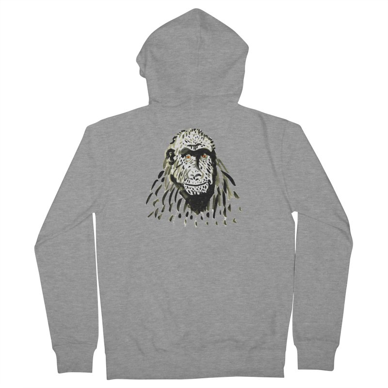 Gorilla Women's Zip-Up Hoody by julianepieper's Artist Shop