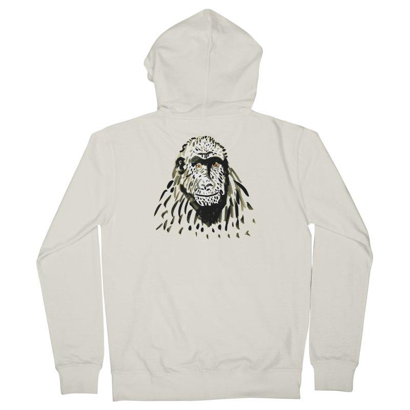 Gorilla Men's Zip-Up Hoody by julianepieper's Artist Shop