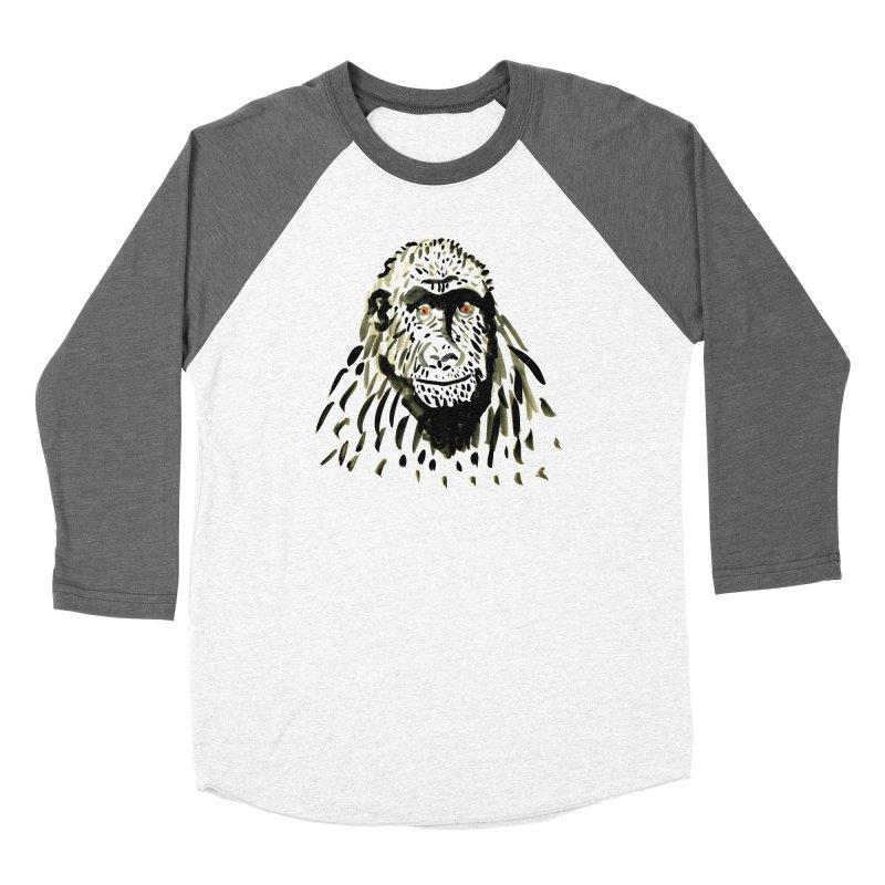 Gorilla Women's Baseball Triblend T-Shirt by julianepieper's Artist Shop