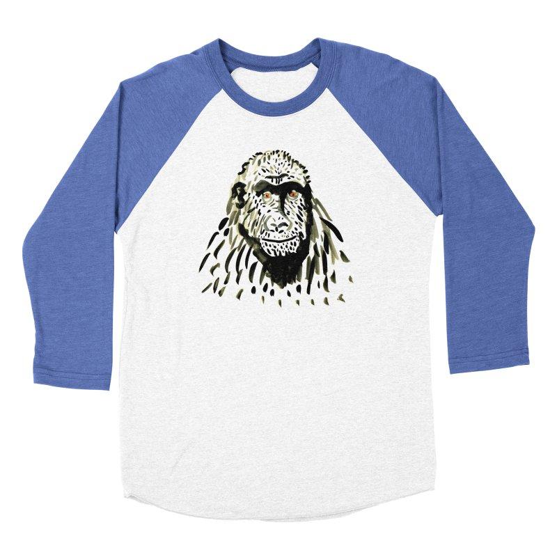Gorilla Men's Baseball Triblend T-Shirt by julianepieper's Artist Shop