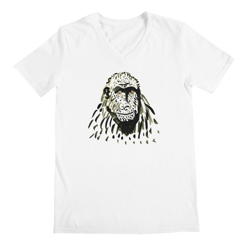 Gorilla Men's V-Neck by julianepieper's Artist Shop