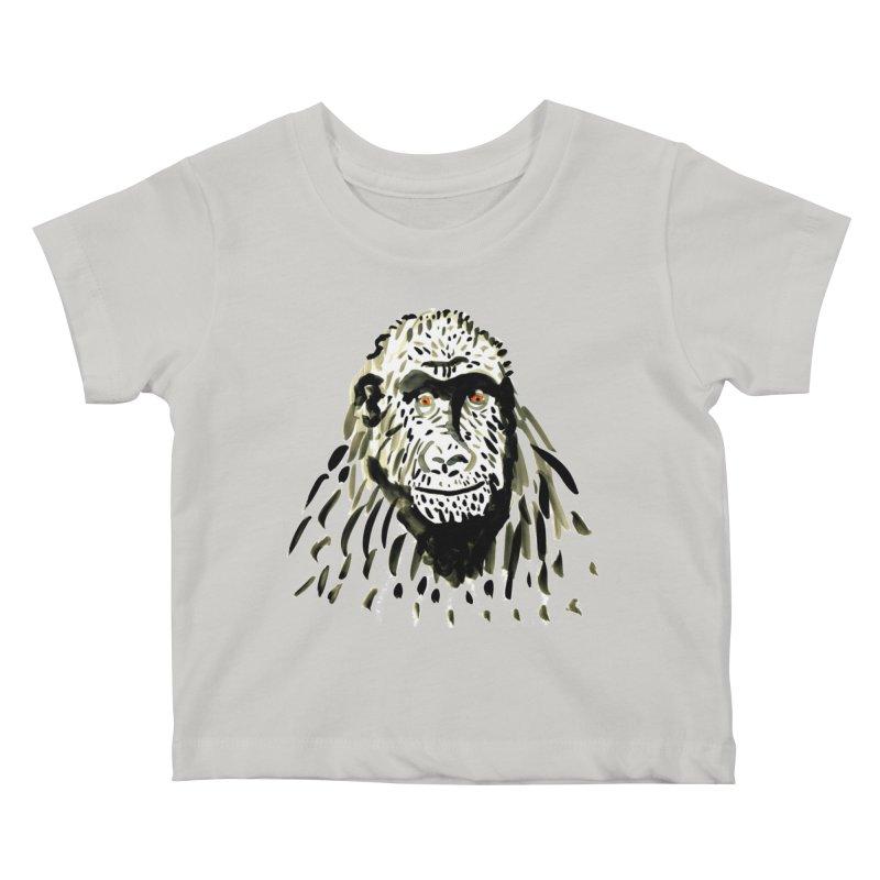 Gorilla Kids Baby T-Shirt by julianepieper's Artist Shop