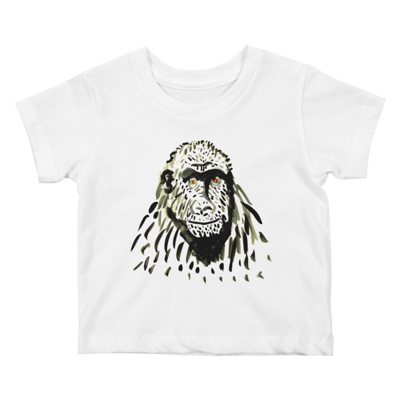 Gorilla Kids Baby T-Shirt by julianepieper's Artist Shop