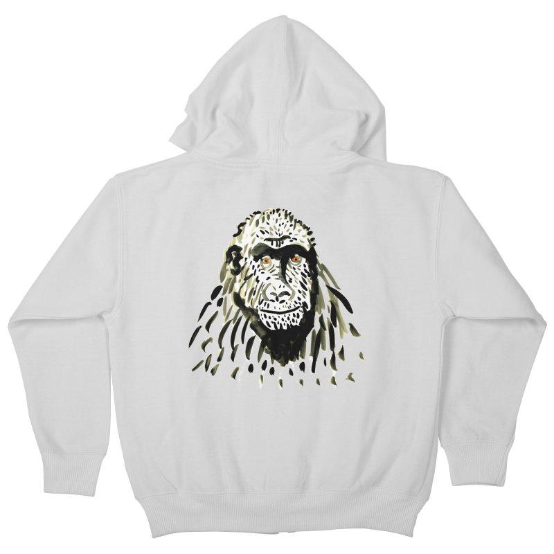 Gorilla Kids Zip-Up Hoody by julianepieper's Artist Shop