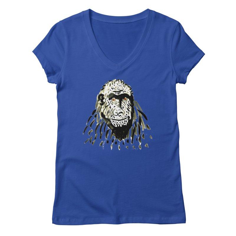 Gorilla Women's V-Neck by julianepieper's Artist Shop