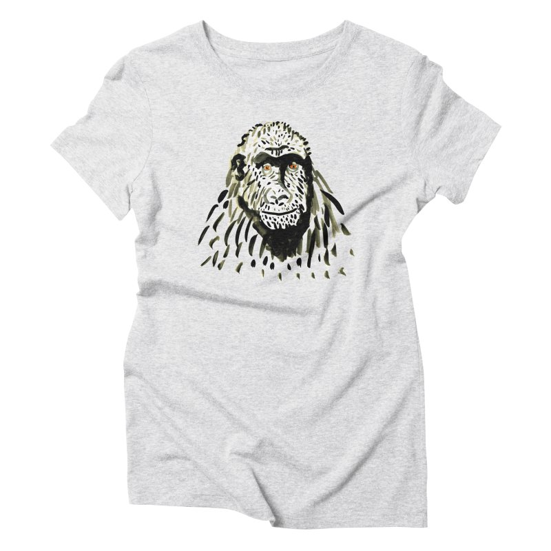 Gorilla Women's Triblend T-Shirt by julianepieper's Artist Shop