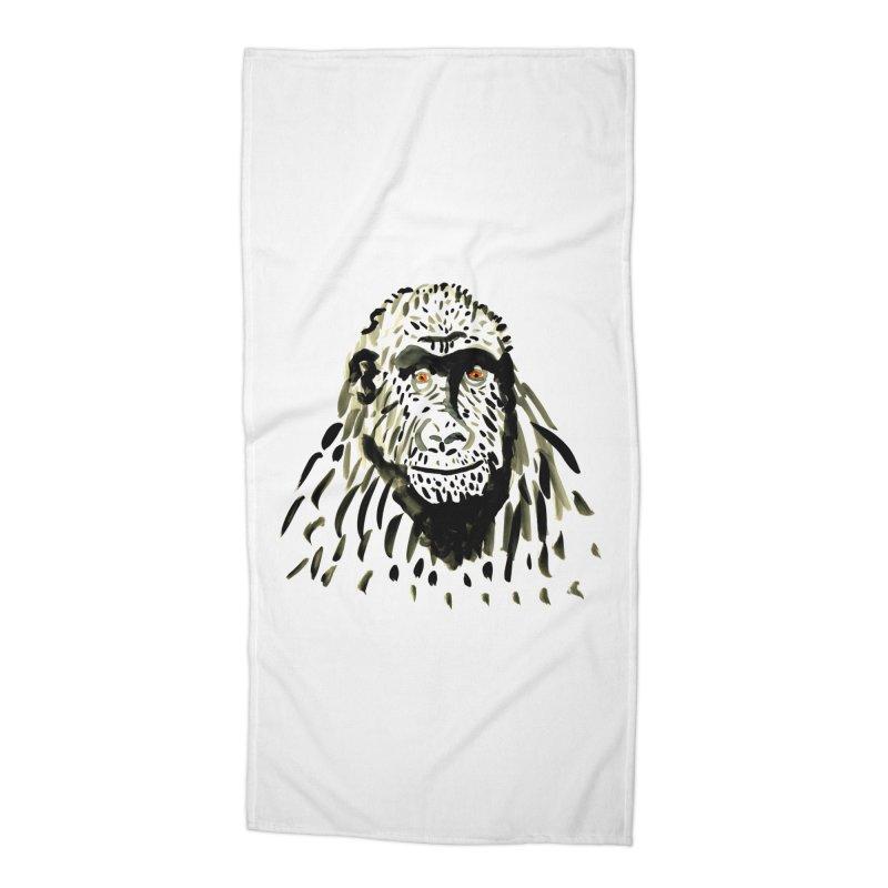 Gorilla Accessories Beach Towel by julianepieper's Artist Shop