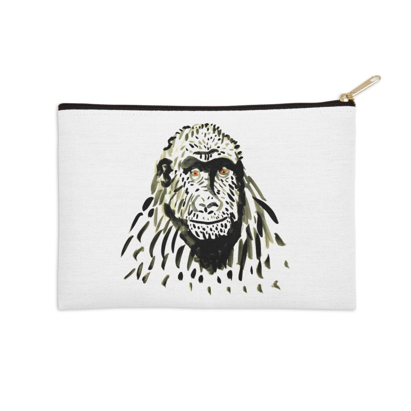 Gorilla Accessories Zip Pouch by julianepieper's Artist Shop