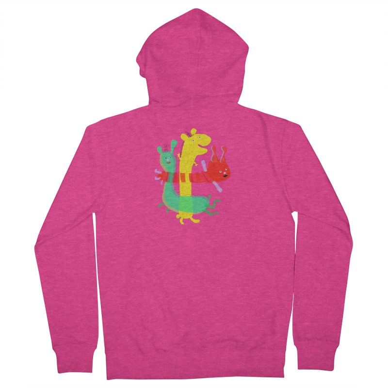 Baby Monster Party Women's Zip-Up Hoody by julianepieper's Artist Shop