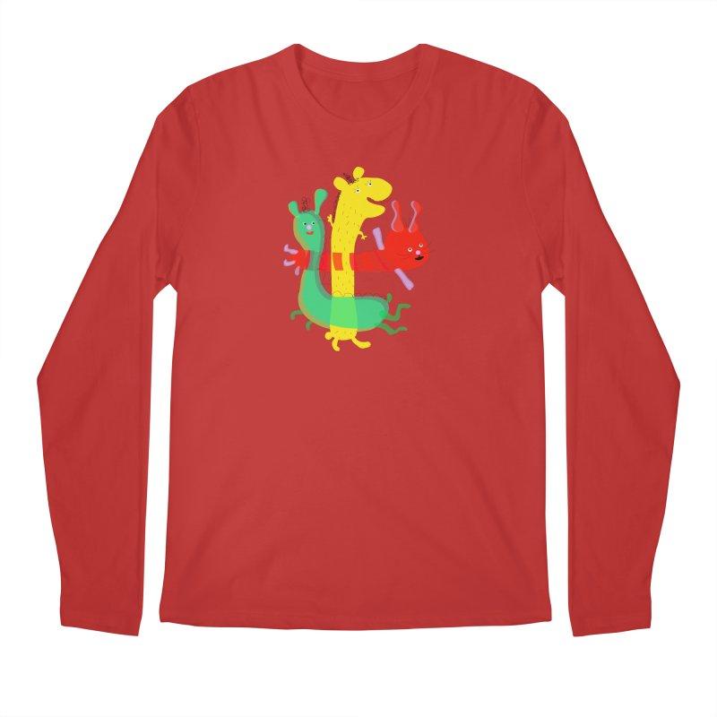 Baby Monster Party Men's Longsleeve T-Shirt by julianepieper's Artist Shop