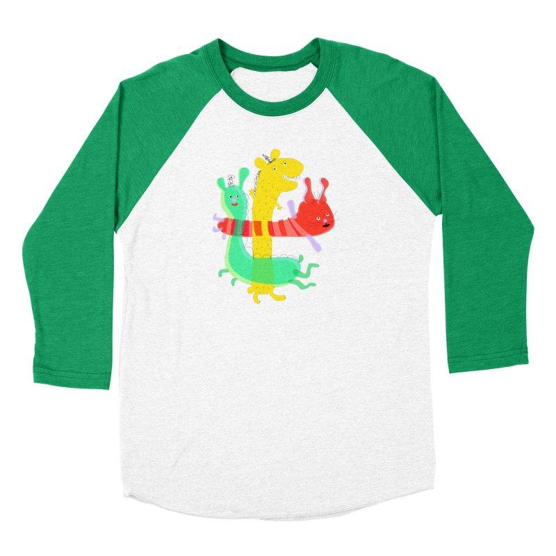 Baby Monster Party Women's Baseball Triblend T-Shirt by julianepieper's Artist Shop