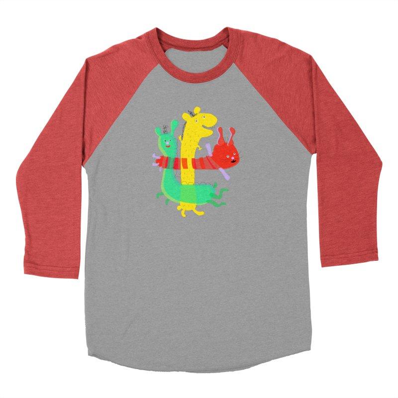 Baby Monster Party Men's Baseball Triblend T-Shirt by julianepieper's Artist Shop