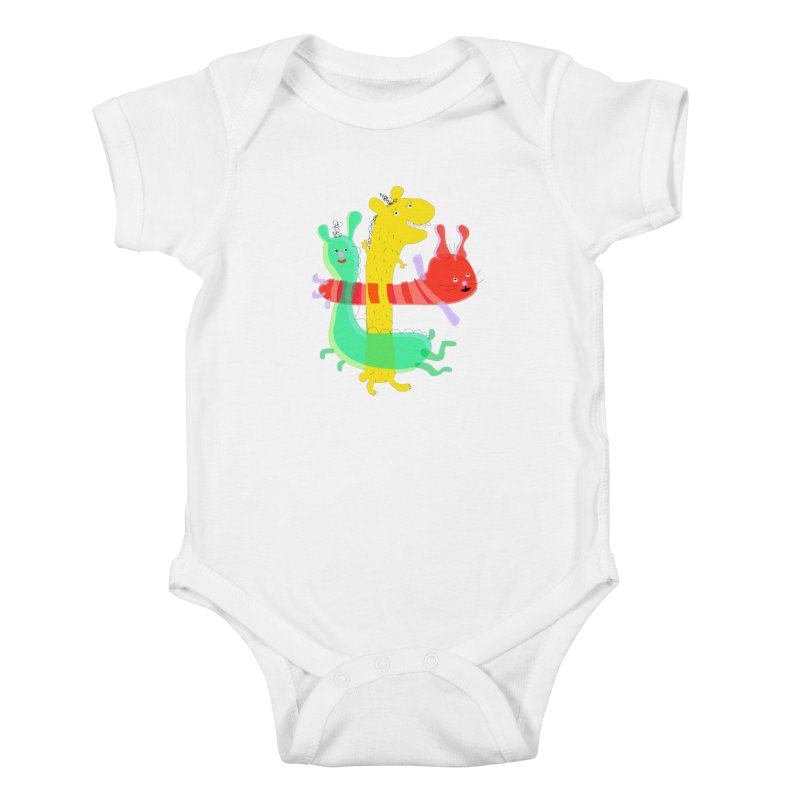 Baby Monster Party Kids Baby Bodysuit by julianepieper's Artist Shop