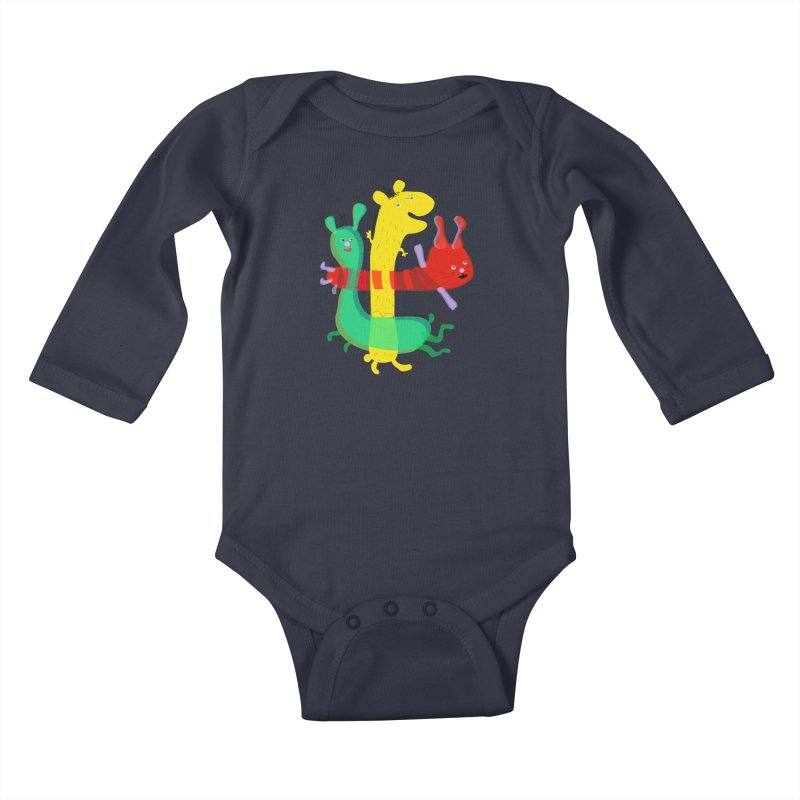 Baby Monster Party Kids Baby Longsleeve Bodysuit by julianepieper's Artist Shop