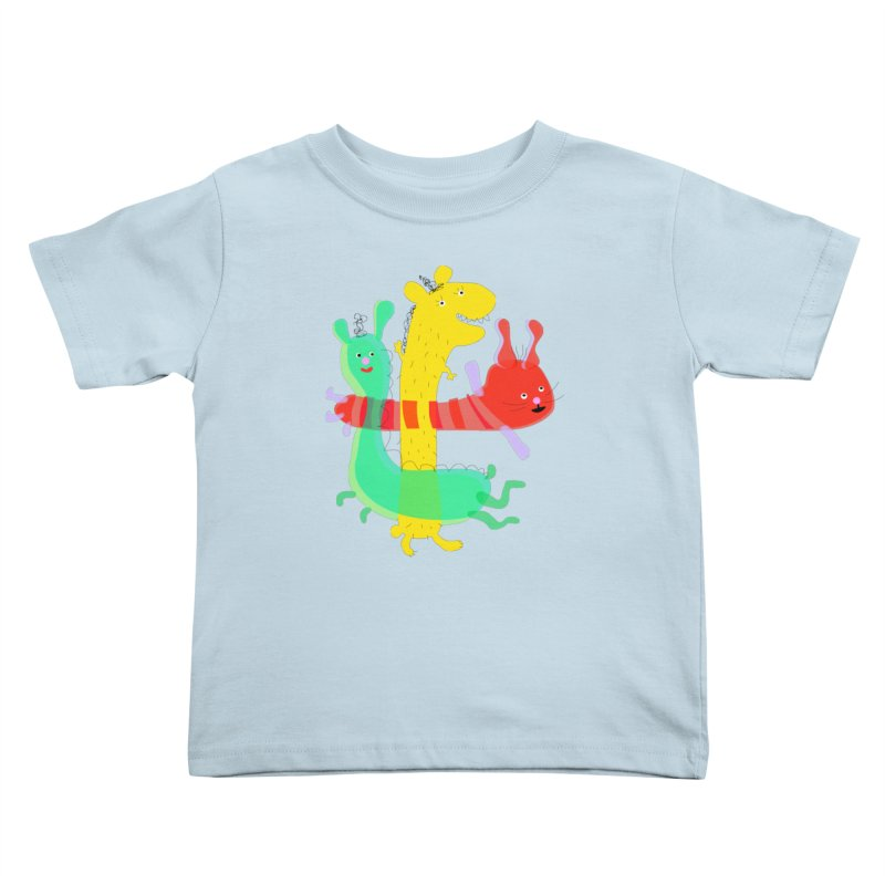 Baby Monster Party Kids Toddler T-Shirt by julianepieper's Artist Shop