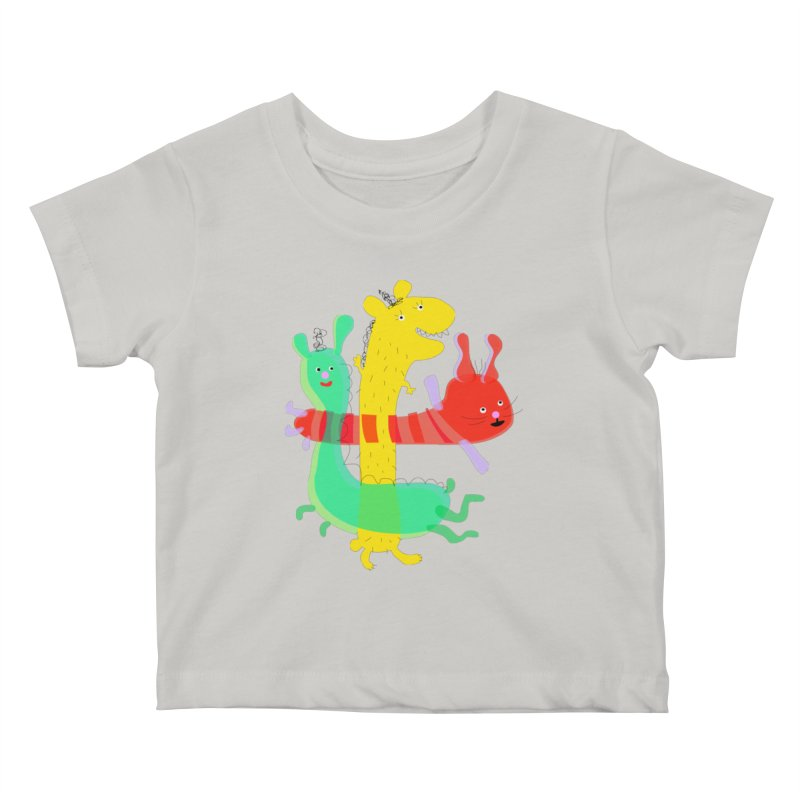 Baby Monster Party Kids Baby T-Shirt by julianepieper's Artist Shop