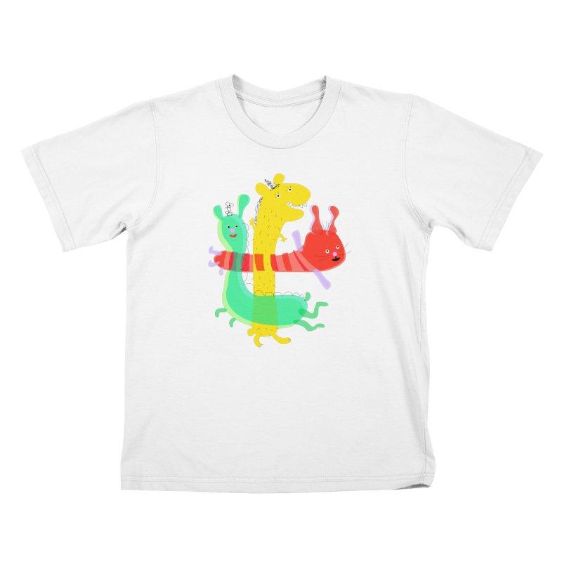 Baby Monster Party Kids T-shirt by julianepieper's Artist Shop