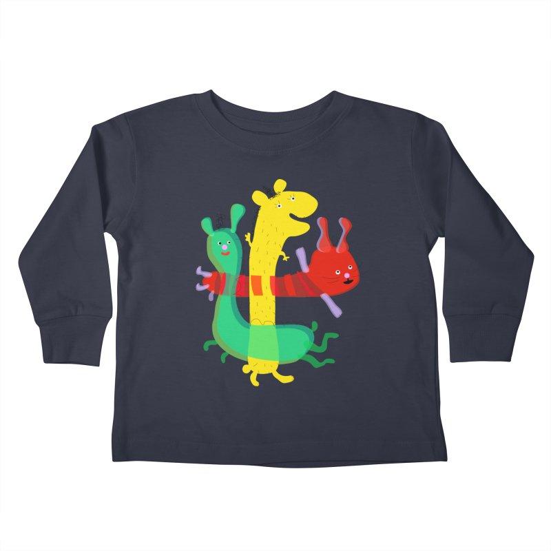 Baby Monster Party Kids Toddler Longsleeve T-Shirt by julianepieper's Artist Shop