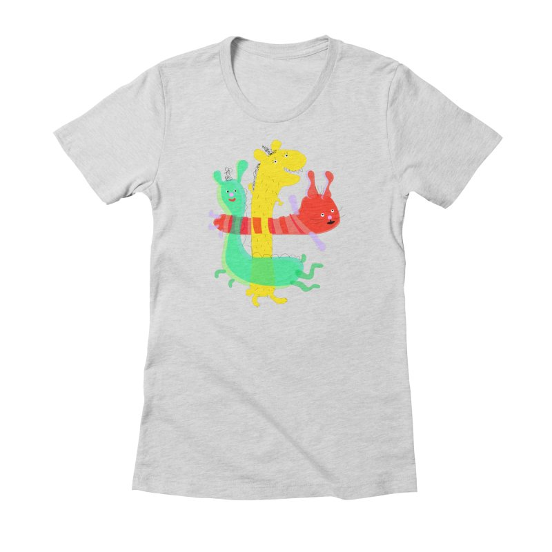 Baby Monster Party Women's Fitted T-Shirt by julianepieper's Artist Shop