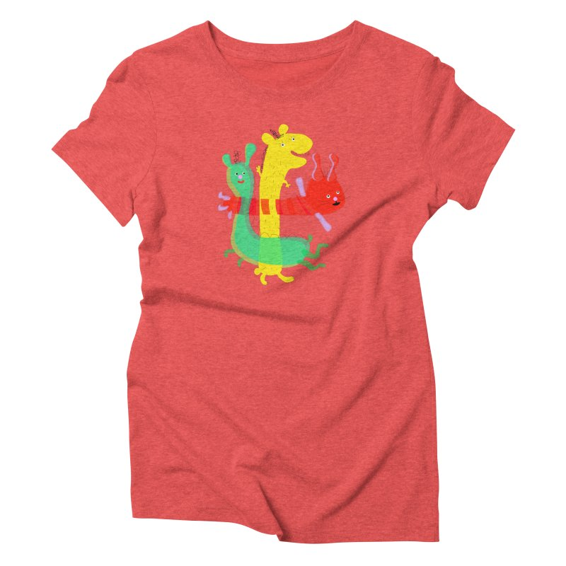 Baby Monster Party Women's Triblend T-Shirt by julianepieper's Artist Shop