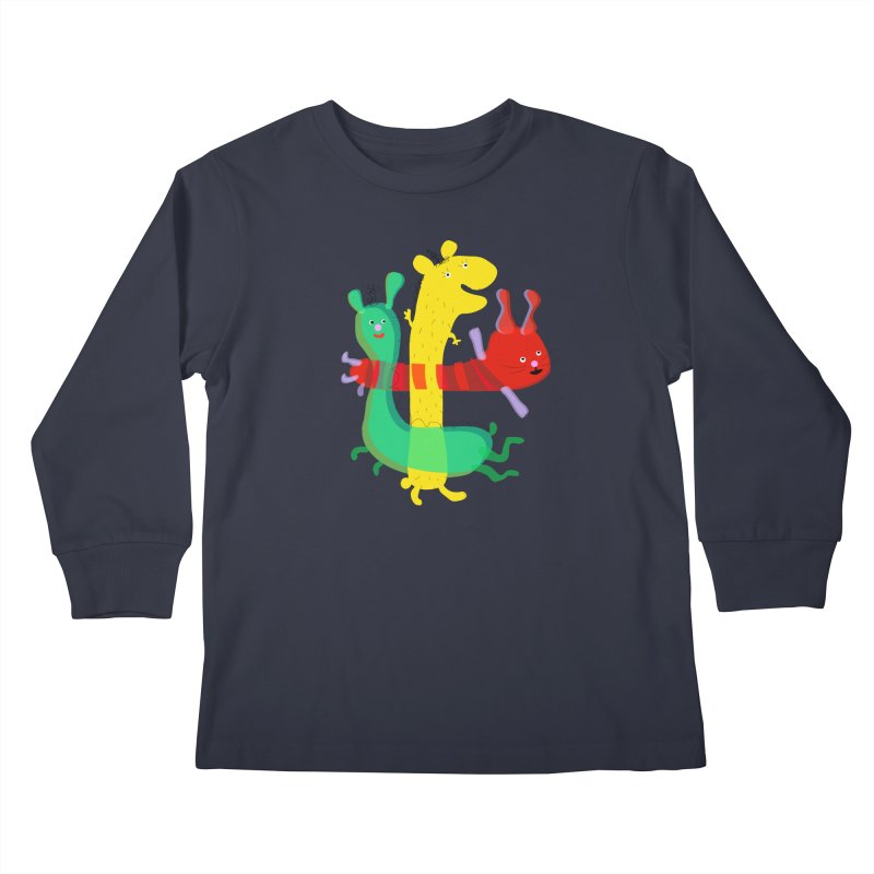 Baby Monster Party Kids Longsleeve T-Shirt by julianepieper's Artist Shop